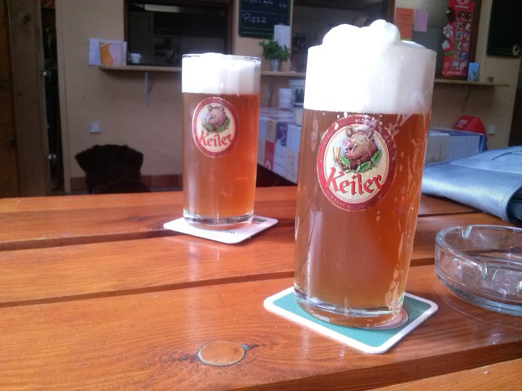 Das Bier schmeckt schon!
