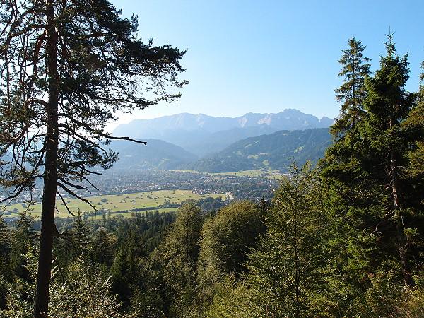 Blick auf Garmisch