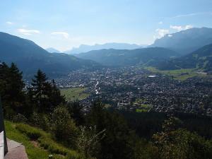 Blick von der St. Martin Hütte auf Garmisch