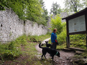 Am Eingang der Ruine Werdenfels