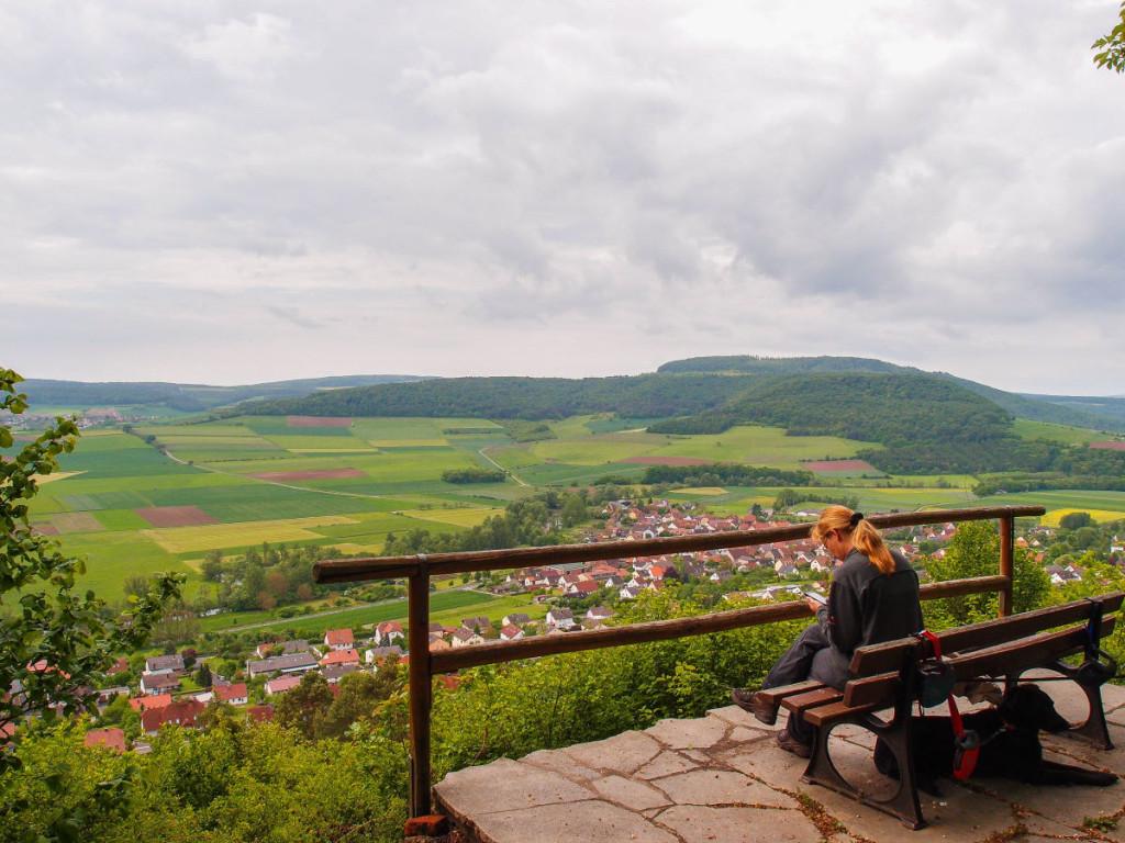 Blick vom Sturmiusberg auf Diebach