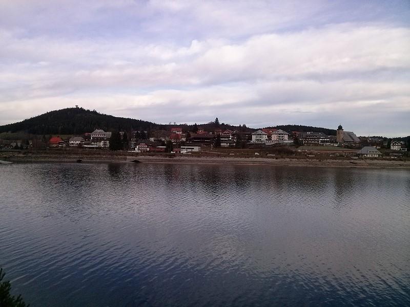 Blick vom Pavillon auf Schluchsee