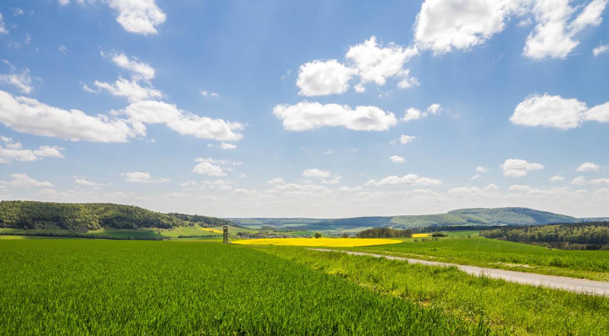 wunderschöner Blick Richtung Windheim und Sodenberg