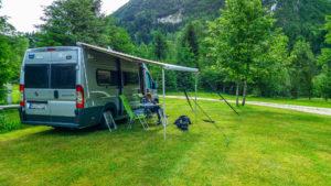 Stellplatz auf Camp Soca