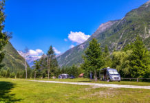 Camp Soca - wunderschönes Bergpanorama