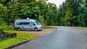 Unser Stellplatz am Camp Pivka Jama