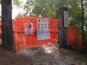 Forte colle delle benne – wegen Renovierung kein Zutritt