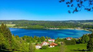 Wohnmobil Frankreich - Blick auf den Lac Saint-Point