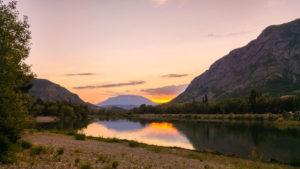 Sonnenuntergang bei den drei Seen von Rochebrune