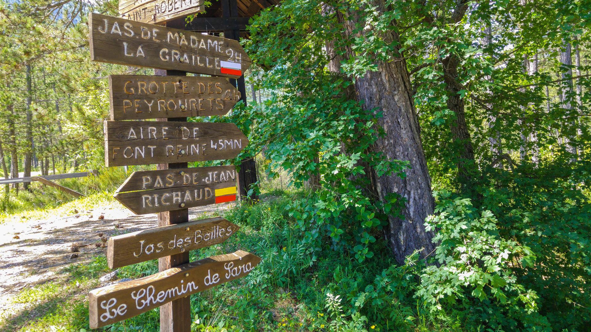 Viele markierte Wanderwege