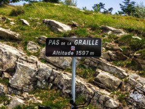 Pas de la Graille 1597 m NN