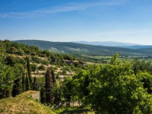 Aussicht in die Umgebung von Simiane-la-Rotonde
