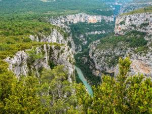 Blick in die Gorge du Verdon, dem Grand Canyon Frankreichs
