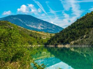 grandiose Landschaft am Lac de Castillon