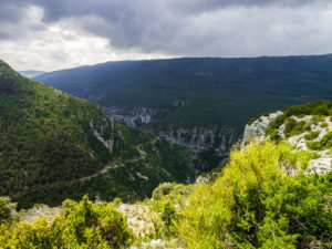 Blick auf der Nordroute der Gorge du Verdon