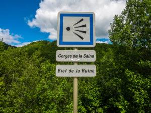 Aussichtspunkt in der Gorge de la Saine