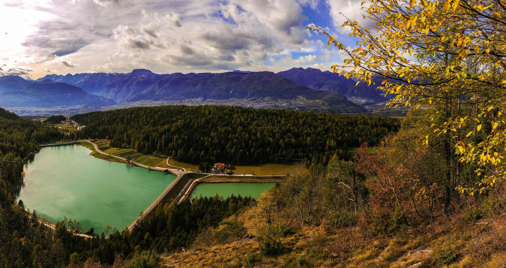 Aussichtspunkt auf den Lago die Coredo und Lago di Tavon