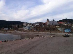 Blick vom Strandbad nach Schluchsee