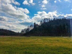 Blick zur Burg Kaltenburg
