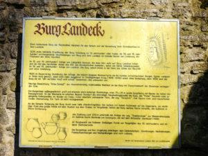 Burgruine Landeck Rhön Informationstafel