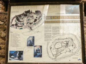 Informationstafel Ruine Lichtenburg