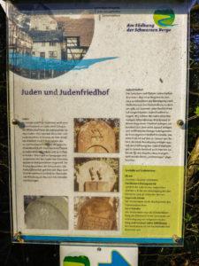 Infotafel Judenfriedhof Geroda