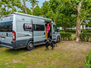 Unsere Parzelle am Pelso-Camping