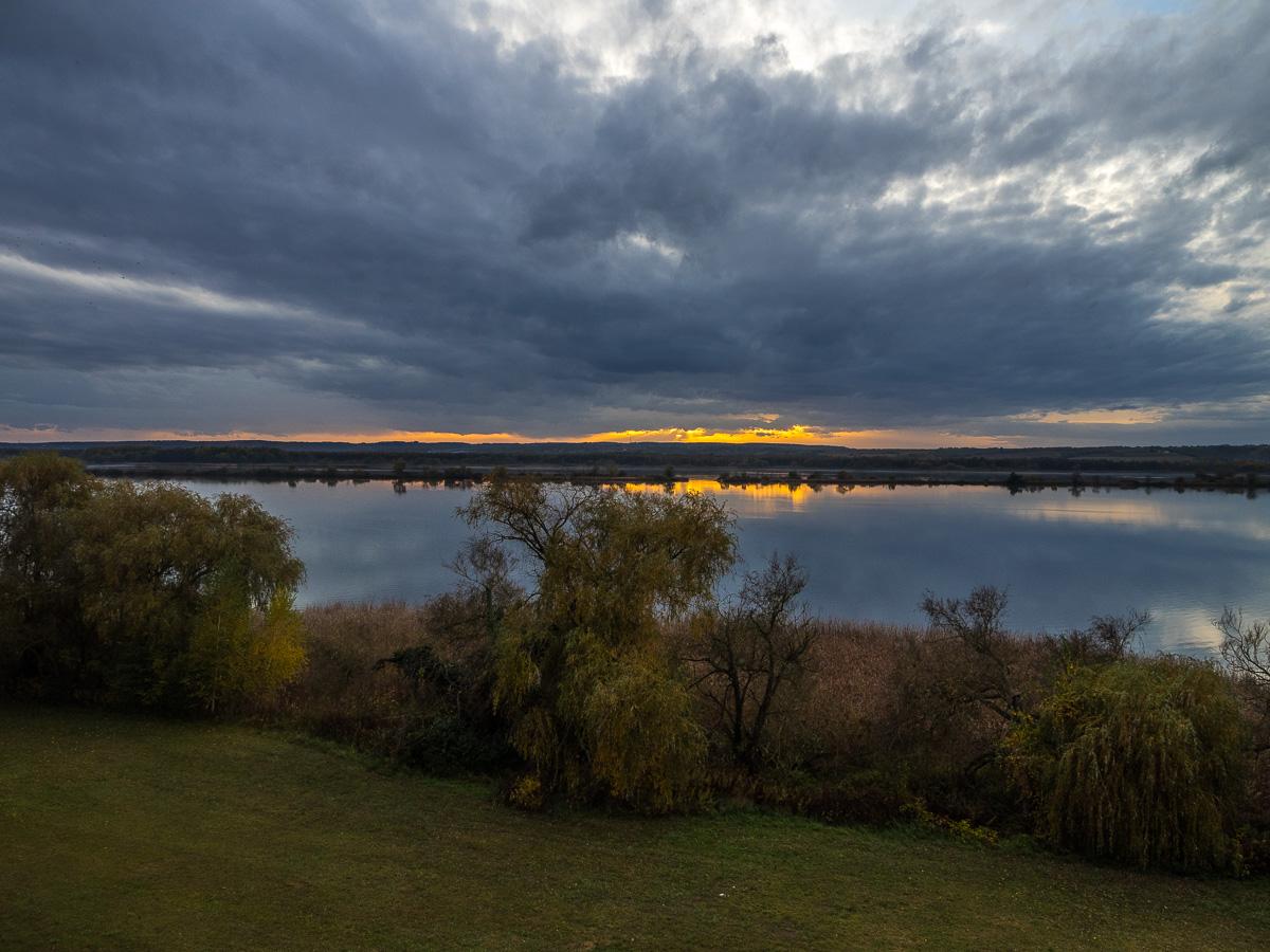 Blick vom Aussichtsturm auf der Kanyavári-Halbinsel