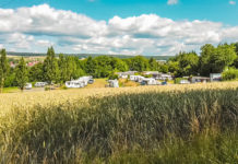 Blick auf das Naturcamp Thulbatal