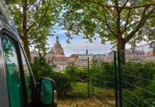 Wohnmobilstellplatz Dresden mit Aussicht auf Altstadt