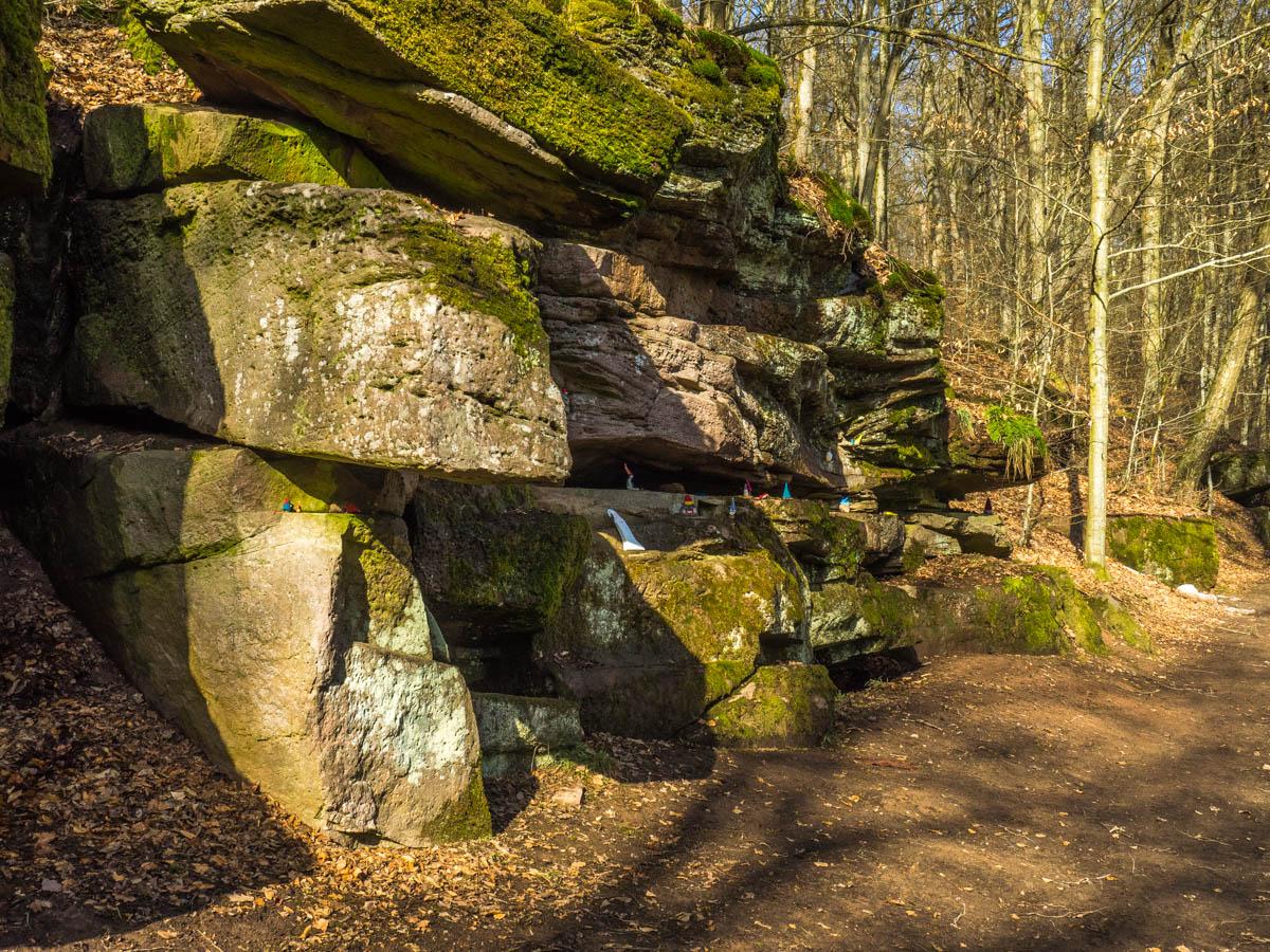 Wichtelhöhlen Bad Kissingen - eine Buntsandtein-Felsformation