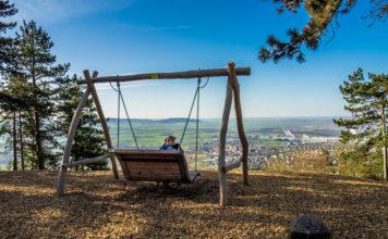 Panoramaschaukel am Conradseck auf der Traumrunde Schwanberg